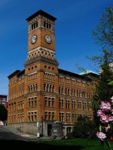 Old Clock Tower in Tacoma, WA